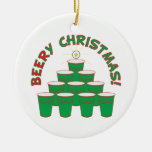BEERy Christmas! Ceramic Ornament
