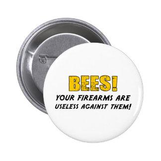 Bees 2 Inch Round Button