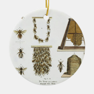 Bees and bee-keeping, from 'The Young Landsman', p Ceramic Ornament