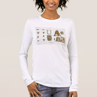 Bees and bee-keeping, from 'The Young Landsman', p Long Sleeve T-Shirt