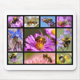 Bees and bumblebees mosaic mouse pad