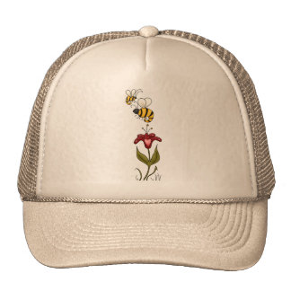 Bees and Flower Trucker Hat