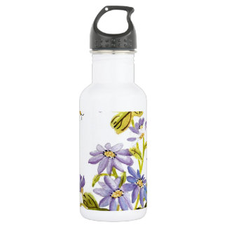 Bees and Flowers 18oz Water Bottle