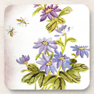 Bees and Flowers Beverage Coaster