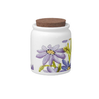 Bees and Flowers Candy Jar