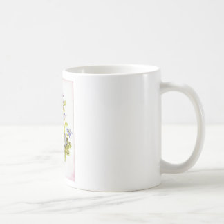 Bees and Flowers Classic White Coffee Mug