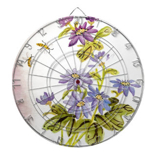 Bees and Flowers Dartboard
