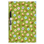 Bees and Flowers Dry Erase Whiteboards