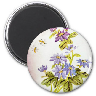 Bees and Flowers Fridge Magnets