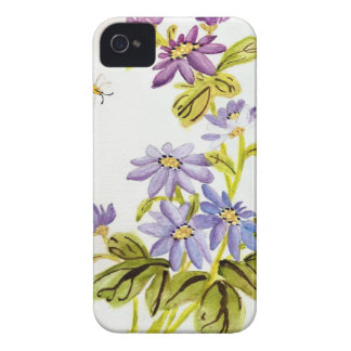 Bees and Flowers iPhone 4 Case