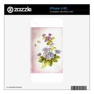 Bees and Flowers iPhone 4 Skins