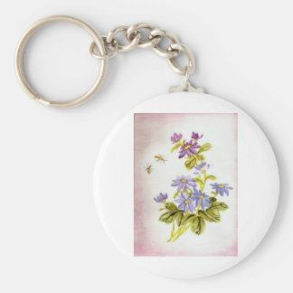 Bees and Flowers Key Chain