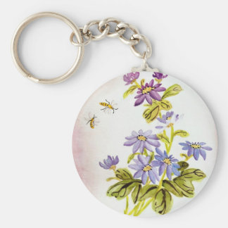 Bees and Flowers Key Chains