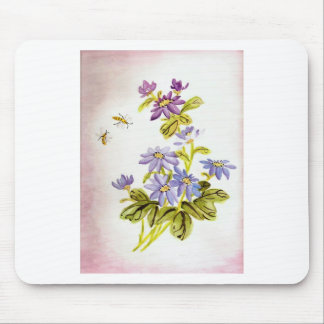 Bees and Flowers Mouse Pad