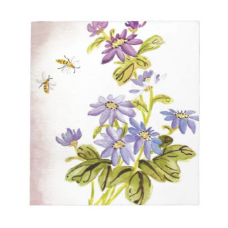 Bees and Flowers Notepad