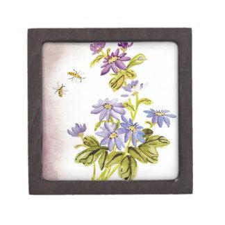 Bees and Flowers Premium Keepsake Box