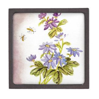 Bees and Flowers Premium Keepsake Boxes