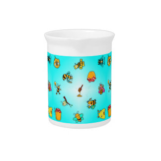 Bees and Honey Beverage Pitchers
