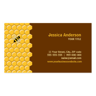 Bees And Honeycomb business cards