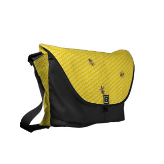 Bees and Honeycomb Courier Bag