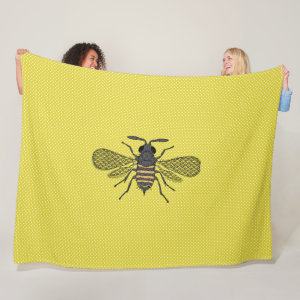 BEES and Honeycomb - Save The Bees Fleece Blanket