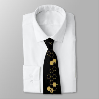 Bees and Honeycomb Tie