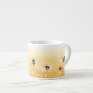 Bees and ladybug espresso cup