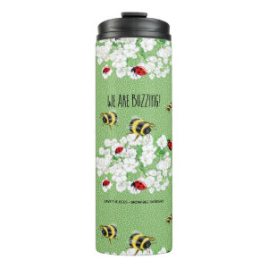 BEES and LadyBugs - Art by LeahG Save The Bees Thermal Tumbler