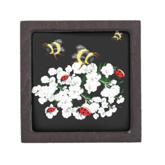 BEES and Ladybugs nature art Premium Gift Boxes