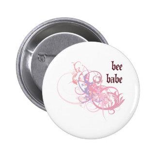 Bees Babe Pinback Button