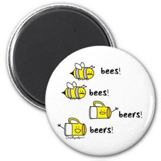 Bees bees Beers beers! Magnet