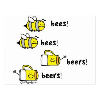 Bees bees Beers beers! Postcard