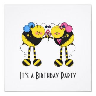 Bees Birthday Party Invitation