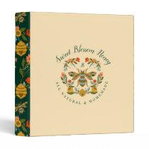 Bees & Bloom Floral Elegant & Decorative Honey Bee 3 Ring Binder