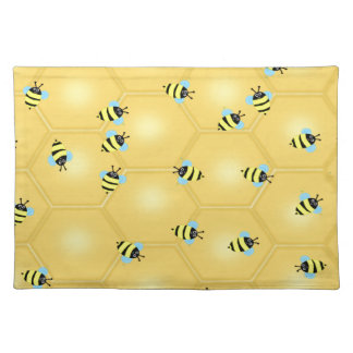 Bees Buzzing Cloth Placemat