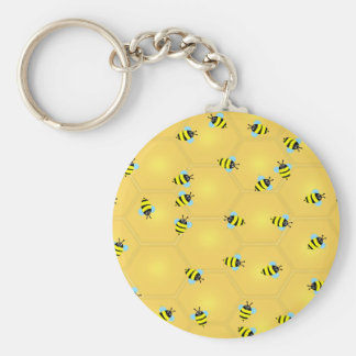 Bees Buzzing Keychain