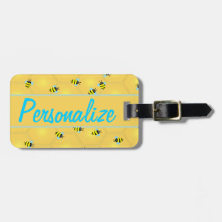 Bees Buzzing Personalized Luggage Tag