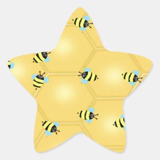 Bees Buzzing Star Sticker