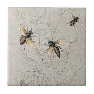 Bees Ceramic Tile