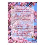 "Bees & Cherry Blossom Bridal Shower Invitation 5"" X 7"" Invitation Card"