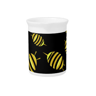 Bees Drink Pitcher