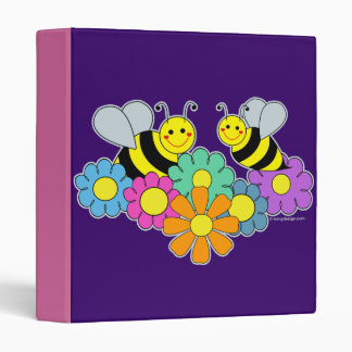 Bees & Flowers 3 Ring Binder