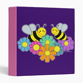 Bees & Flowers 3 Ring Binders