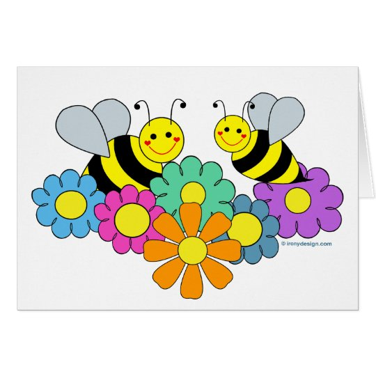 Bees & Flowers Card