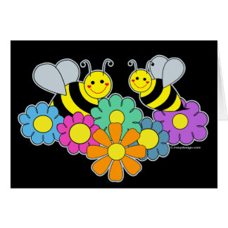 Bees & Flowers Greeting Cards