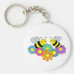 Bees & Flowers Keychain