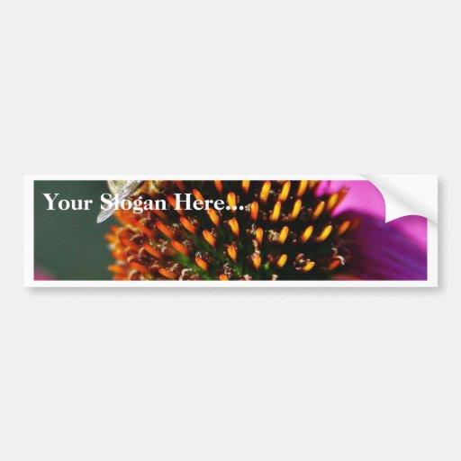 Bees Flowers Macro Bumper Stickers