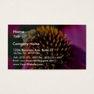 Bees Flowers Macro Business Card