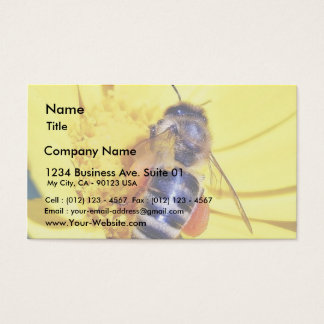 Bees Flowers Pollen Business Card
