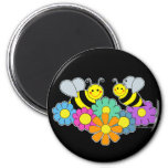 Bees & Flowers Refrigerator Magnet